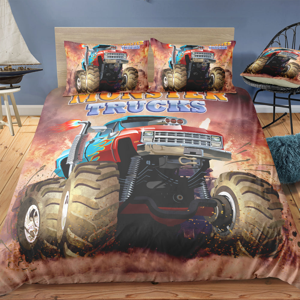 Monster Truck Bedding Set For Boys