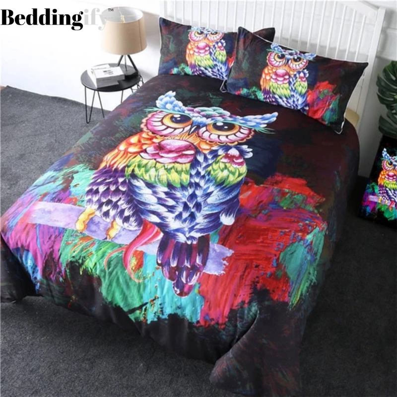 Colorful Owl Bedding Set - Beddingify
