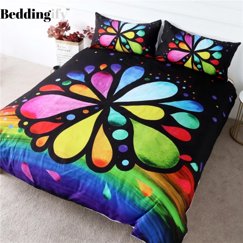 7 Chakra Flower Bedding Set - Beddingify