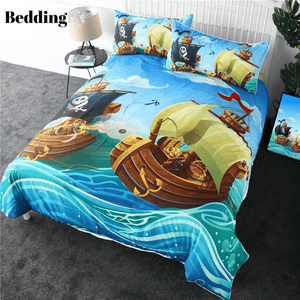 Pirate Boat Bedding Set