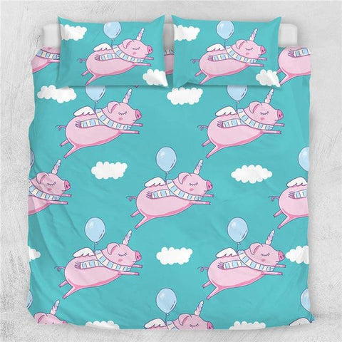 Image of Pig Angel Bedding Set - Beddingify