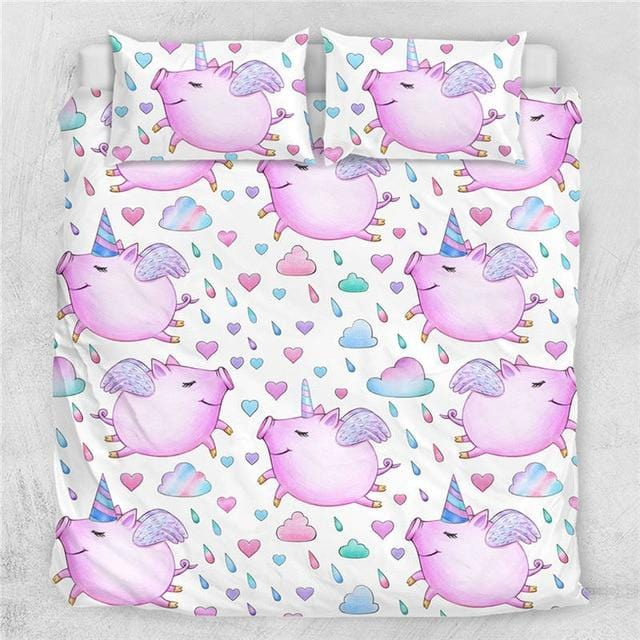 Pig Angel Bedding Set - Beddingify