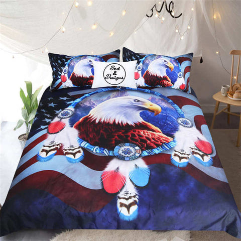 Image of Eagle Dreamcatcher Bedding Set - Beddingify