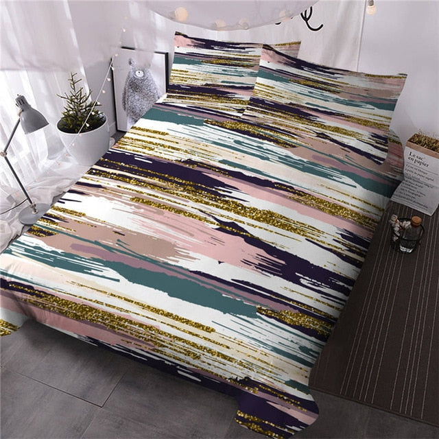 Colorful Striped Bedding Set - Beddingify