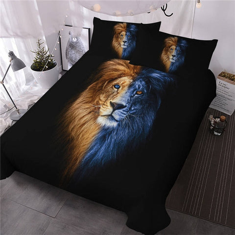Image of Artistic Male Lion Bedding Set - Beddingify