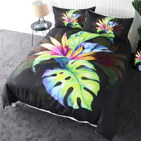 Image of Tropical Green Leaf Bedding Set - Beddingify