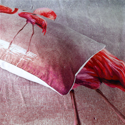 Image of Watercolor Flamingos Bedding Set - Beddingify