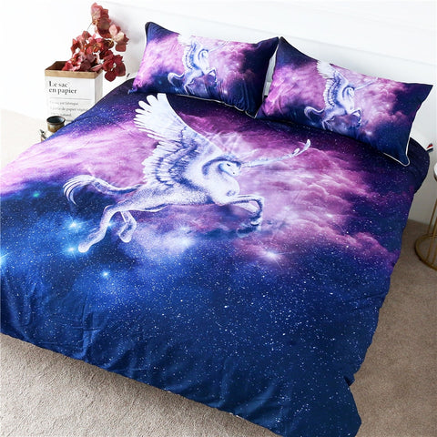 Image of Flying Unicorn Bedding Set - Beddingify
