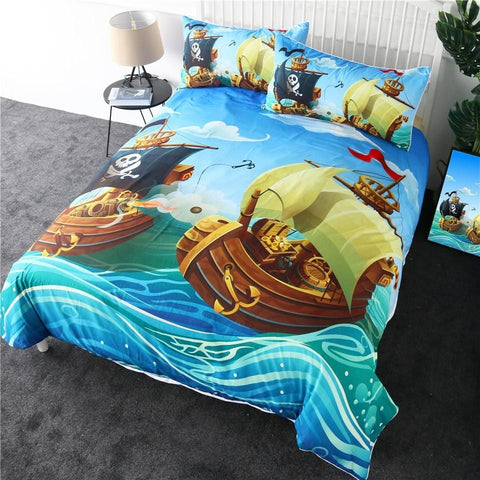 Image of Pirate Boat Bedding Set - Beddingify