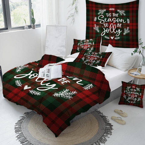 Image of Scottish Pattern  Bedding Set - Beddingify