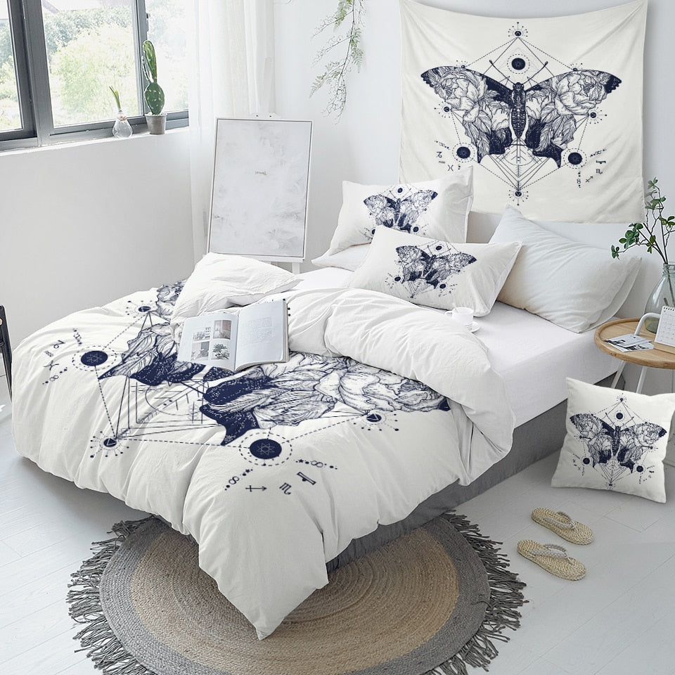 Butterfly Art Bedding Set - Beddingify