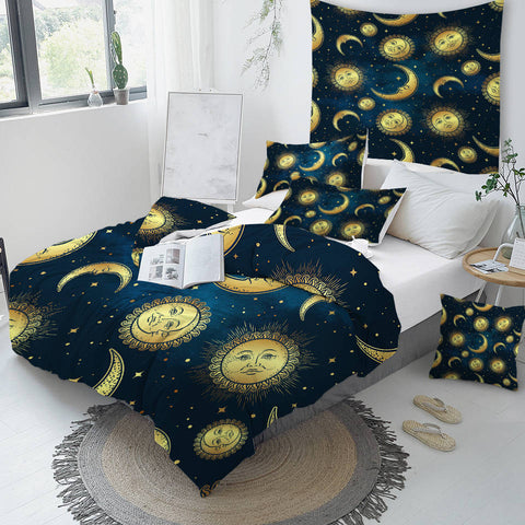 Image of Moon and Sun Bedding Set - Beddingify