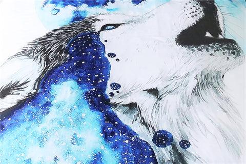Howling Wolf by Scandy Girl Bedding Set - Beddingify