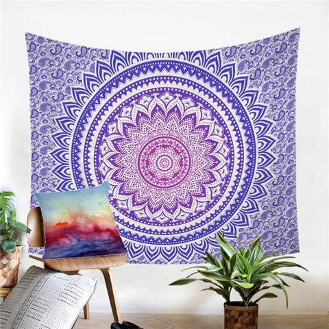 Image of Pink Mandala Flower Tapestry - Beddingify