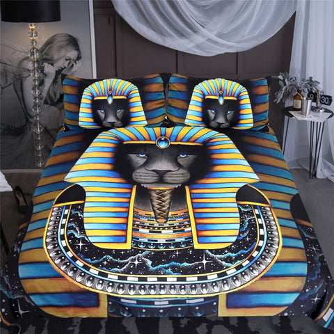 Image of Ancient Egpyt Pharaoh Bedding Set - Beddingify
