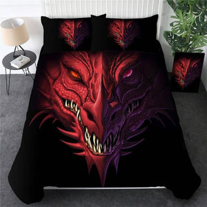 Red Dragon Head Bedding Set - Beddingify