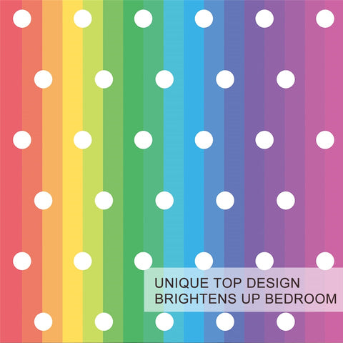 Image of Dots Rainbow Bedding Set - Beddingify