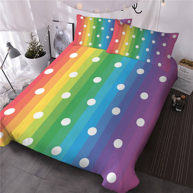 Dots Rainbow Bedding Set - Beddingify