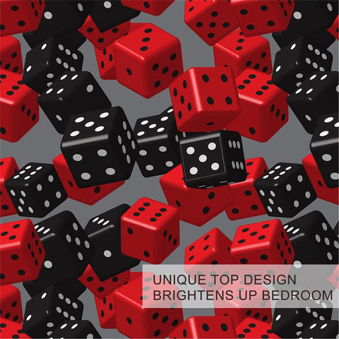 Image of Red Black Dice Bedding Set - Beddingify