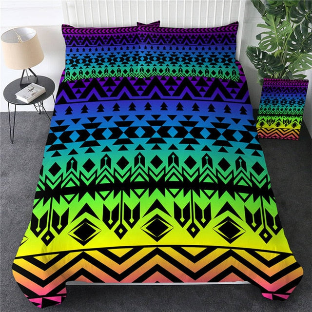 Aztec Colorful Totem Bedding Set - Beddingify