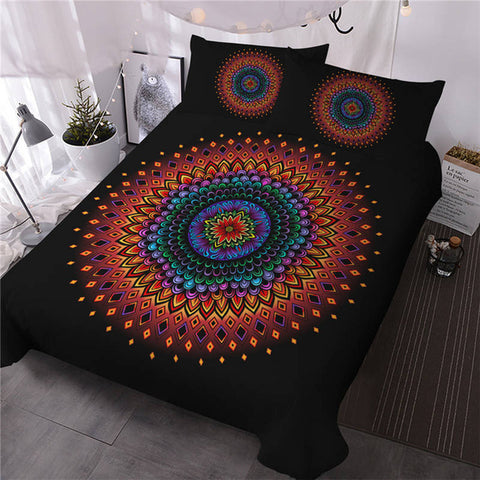 Image of Floral Mandala Bedding Set - Beddingify