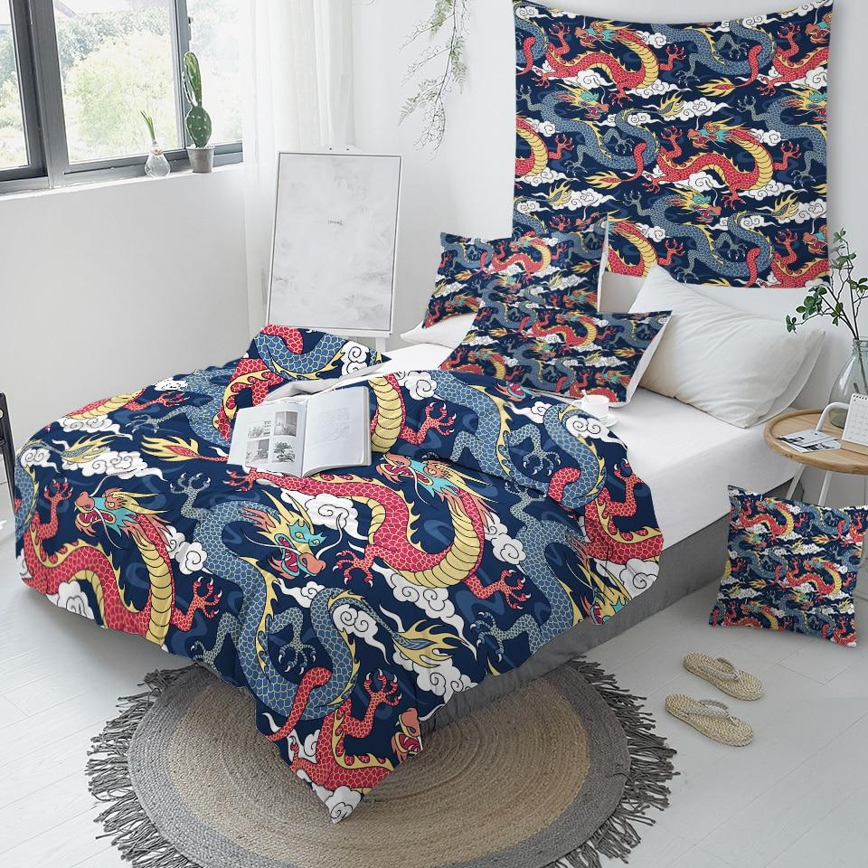 Flying Dragon Comforter Set - Beddingify