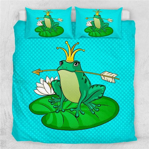 Image of Cute Frog Prince Fairy Tale Comforter Set - Beddingify