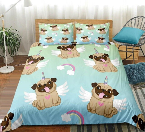 Image of Rainbow Pug Bedding Set - Beddingify