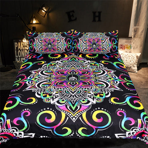Image of Harmony Magic Mandala Floral Bedding Set - Beddingify