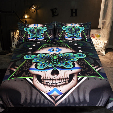 Image of Gothic Skull Bedding Set - Beddingify