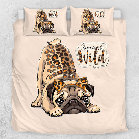 Image of Wild Pug Bedding Set - Beddingify