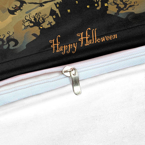 Halloween Castle Black Bedding Set - Beddingify