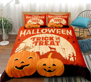 Pumpkin Trick Or Treat Halloween Bedding Set - Beddingify