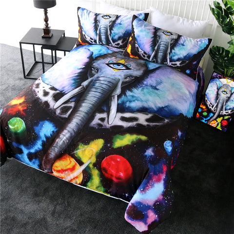 Alien Elephant Bedding Set - Beddingify