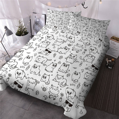 Image of Hipster Doodle Animal Bedding Set - Beddingify