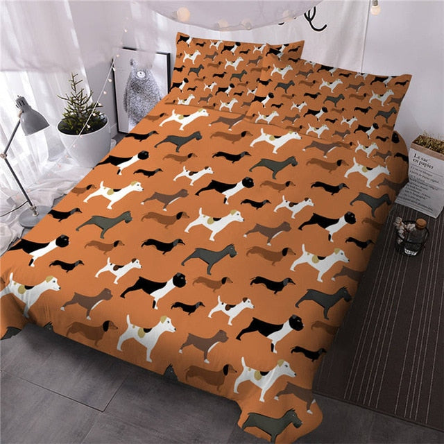 Hipster Doodle Animal Bedding Set - Beddingify
