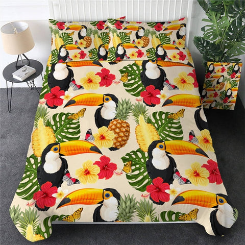 Image of Tropical Plant Bedding Set - Beddingify