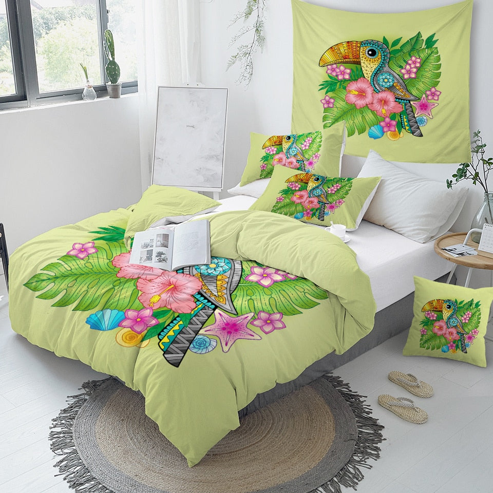 Tropical Plant Bedding Set - Beddingify