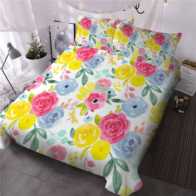 Natural Flower Bedding Set - Beddingify