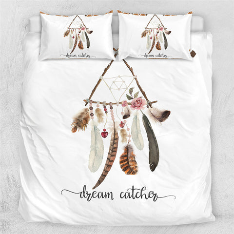 Image of Dreamcatcher Boho Feathers Bedding Set - Beddingify