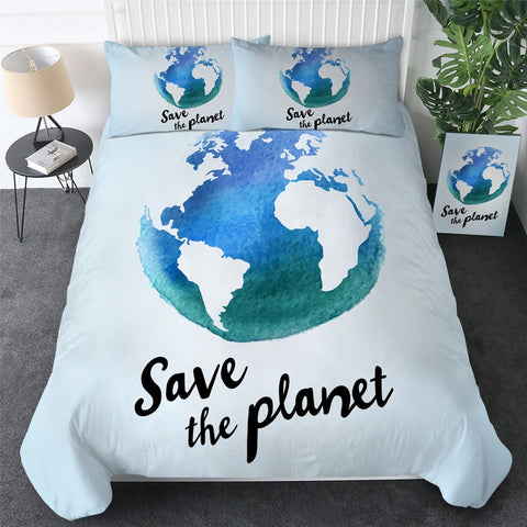 Earth Save the Planet Bedding Set - Beddingify
