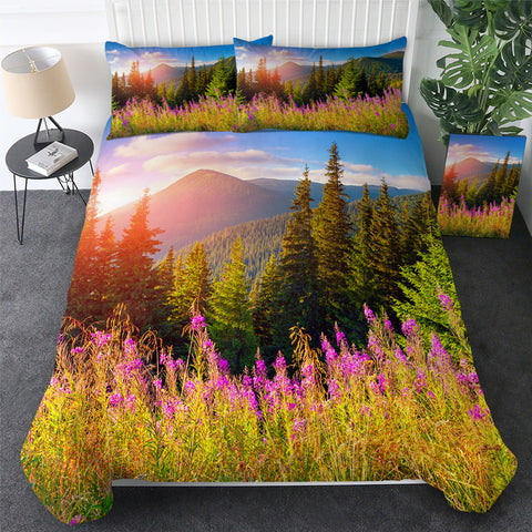 Image of 3D Printed Sunset Flower Bedding Set - Beddingify