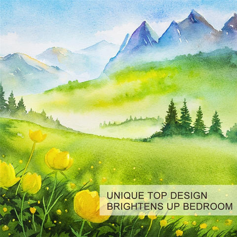 Image of Spring Mountain Art Landscape Bedding Set - Beddingify