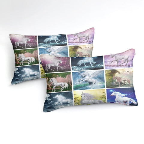 Image of Collage of Unicorns Bedding Set - Beddingify