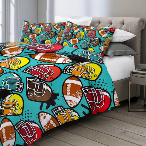 Ball Helmet Bedding Set - Beddingify
