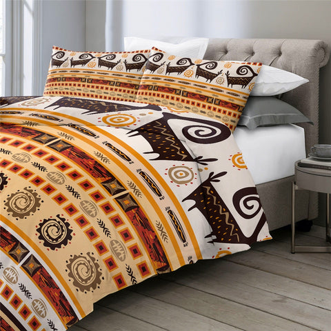 Image of Geometric Aztec African Bedding Set - Beddingify