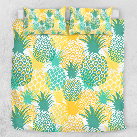 Image of Tropical Giant Pineapples Bedding Set - Beddingify