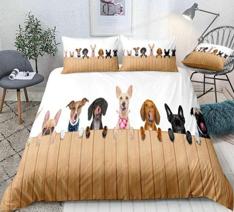 Cute Dogs Bedding Set - Beddingify
