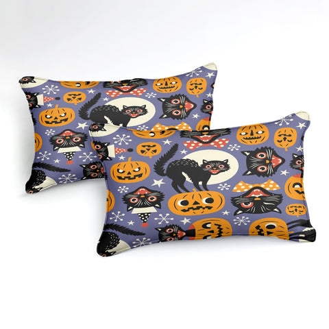 Image of Halloween Black Cats Bedding Set