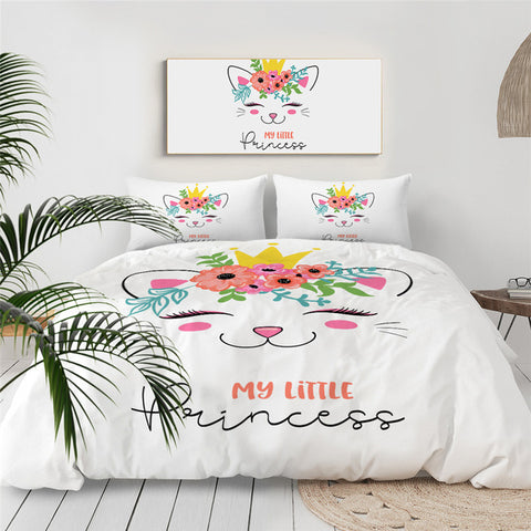 Cat Eyelashes Bedding Set for Kids - Beddingify